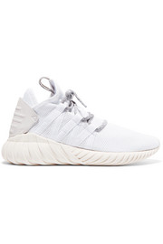 adidas Originals Tubular Dawn leather-trimmed mesh sneakers