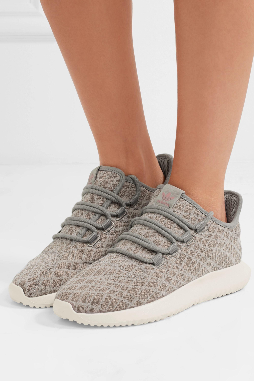 Gray Tubular Shadow jersey sneakers