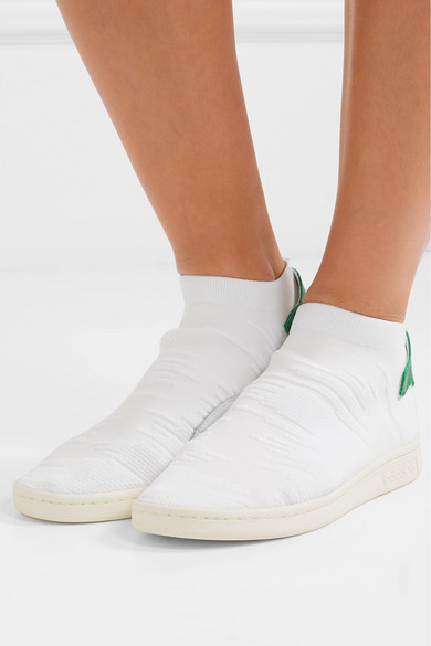 Stan Smith Shock leather-trimmed Primeknit slip-on sneakers