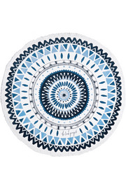 Marjorelle round cotton-terry towel