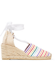 Castañer Campesina striped canvas wedge espadrilles
