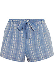 Cotton-jacquard shorts