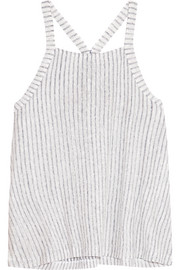 Splendid Striped slub linen and cotton-blend tank