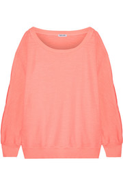 Splendid Pigment cutout cotton-jersey sweatshirt