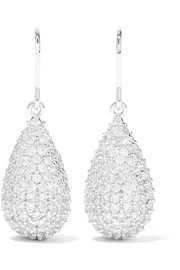 Kenneth Jay Lane Silver-tone cubic zirconia earrings