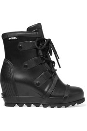 Joan Rain waterproof rubber wedge boots