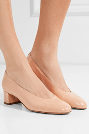 Ballerina patent-leather pumps