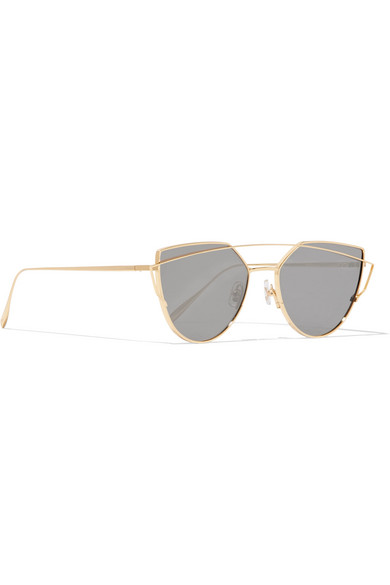 bc2152bfb44 Gentle Monster. Love Punch aviator-style gold-tone sunglasses