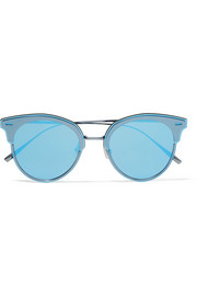 Gentle Monster Tool cat-eye gunmetal-tone mirrored sunglasses
