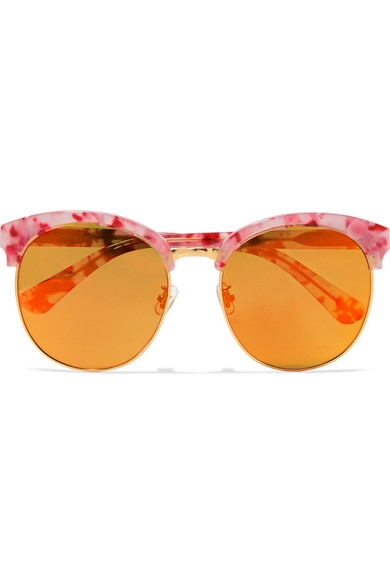 f316fedc4 Gentle Monster. Deborah cat-eye gold-tone and acetate mirrored sunglasses