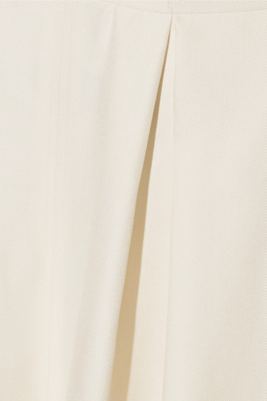Rosie Assoulin Artichoke Hearts Jumpsuit aus Wolle und glänzendem Twill aus einer Seidenmischung mit Cut-outs