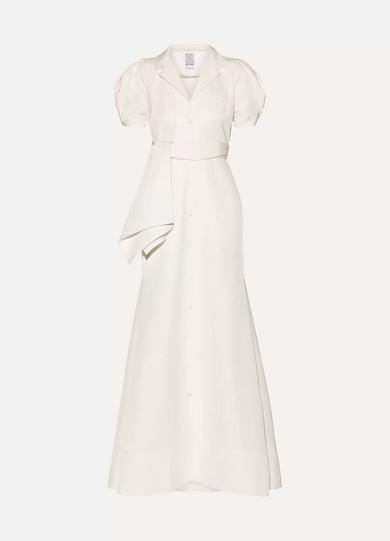 Rosie Assoulin Robe aus Faille aus einer Baumwollmischung mit Bindegürtel
