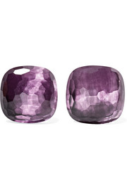 Nudo 18-karat rose gold amethyst earrings