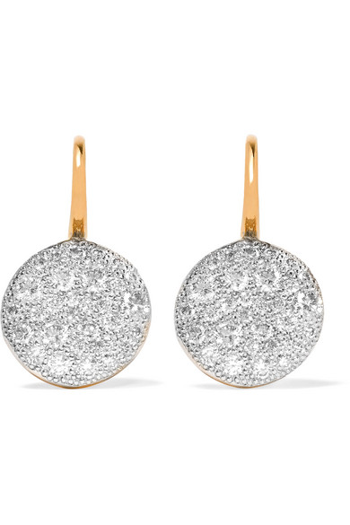 Pomellato - Sabbia 18-karat Rose Gold Diamond Earrings - one size