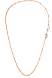 Sabbia 18-karat rose gold diamond necklace