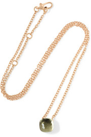 Nudo 18-karat rose gold prasiolite necklace