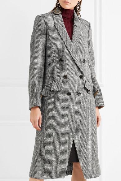 Burberry | Double-breasted herringbone tweed coat | NET-A-PORTER.COM