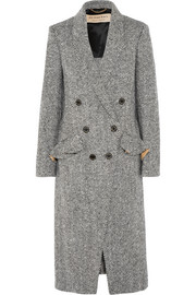 Burberry Double-breasted herringbone tweed coat