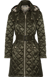 Burberry Hooded quilted shell jacket
