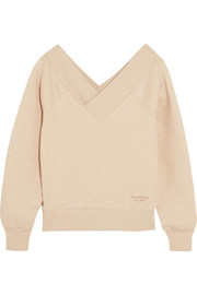 Burberry Off-the-shoulder stretch cotton-blend sweatshirt