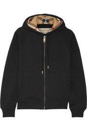 Burberry Cotton-blend jersey hooded top