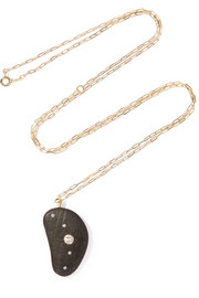 West Hampton 18-karat gold, stone and diamond necklace