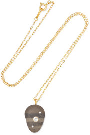 Forgive 18-karat gold, stone and diamond necklace
