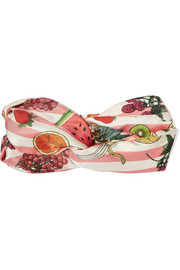 Silken Favours Nature's Candy printed silk-twill headband