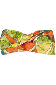 Juicy Eruption printed silk-twill headband