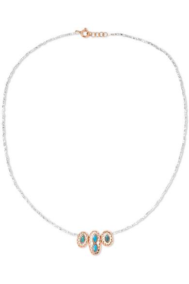 Pascale Monvoisin Lara N°1 9-karat Rose Gold And Turquoise Necklace MlRPrr