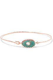Orso N°1 9-karat rose gold, turquoise and diamond bracelet