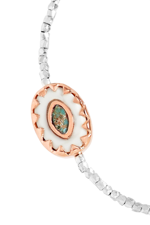 Pascale Monvoisin Montauk 9-karat rose gold, silver, turquoise and bakelite bracelet
