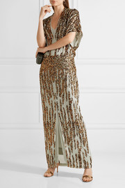 By Malene Birger Saribala sequined chiffon gown