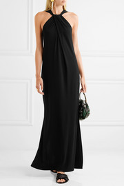 By Malene Birger Drawo stretch-crepe halterneck maxi dress