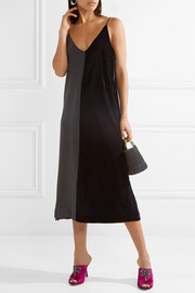 By Malene Birger Nabras silk crepe de chine and velvet dress