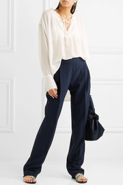 By Malene Birger Bolivian ruched chiffon blouse