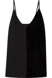 By Malene Birger Nabista silk crepe de chine and velvet camisole