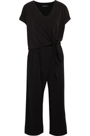 By Malene Birger Grimos tie-front stretch-crepe jumpsuit