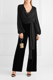 By Malene Birger Ailotte velvet wide-leg pants