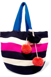 Sophie Anderson Jonas pompom-embellished crocheted tote
