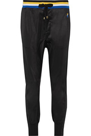 Strike Out ribbed knit-trimmed stretch-jersey track pants