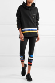P.E Nation Delta Time striped cotton-jersey sweatshirt