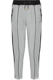 Deuce striped cotton-jersey track pants