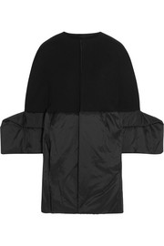 Rick Owens Wool-blend gabardine and shell coat