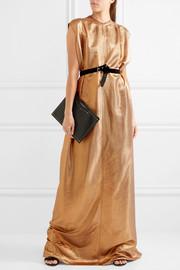 Audrey lamé maxi dress