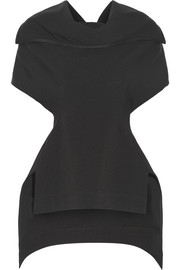 Rick Owens Judith asymmetric stretch-grosgrain top