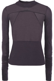Rick Owens Exaggerated-sleeve stretch-jersey top