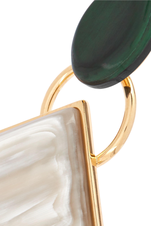 Marni Boucles d'oreilles en métal doré et en corne
