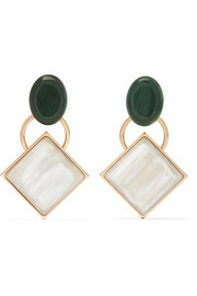 Marni Gold-tone horn earrings