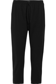 Cropped jersey track pants